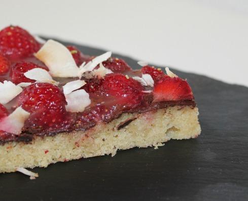 glutenfri jordbærtærte