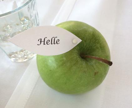 grønt æble